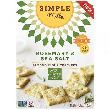 Rosemary Sea Salt Almond Flour Crackers