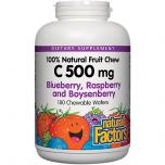 C 500MG NATURAL FRUIT CHEWS