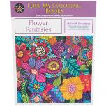 Love My Coloring Books Flower Fantasies