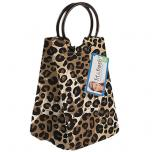 Retro Insulated Lunch Bag With Ice Pack Cheetah