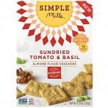 Sundried Tomato Basil Almond Flour Crackers